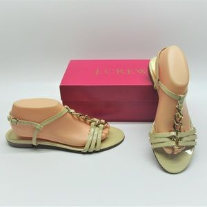 J. Crew Palermo Metal Chain Sandals Shoes 10